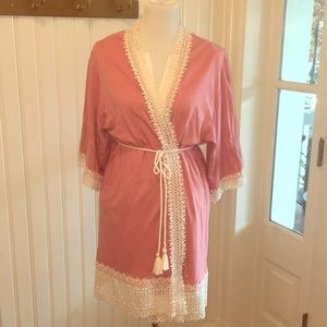 Super cute pink boho robe